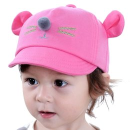 infant spring hats for boys 2019 - Cartoon Baby Caps New Girl Boys Cap Summer Hats For Boy Infant Sun Hat Sunscreen Baby Girl Hat Spring Accessories cheap