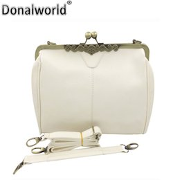 c1d8084b2f Donalworld Retro Kiss Lock Pu Leather Crossbag Shoulder Bag Handbag Totes  Bag Satchel Messenger Bags Vintage Purse