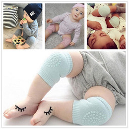 baby knee elbow protector UK - 100pcs Baby Kneecaps Knee Pads Anti Slip Crawl Knee Protector Baby Leg Warmers Safety Protector Kids Kneepad Crawling Elbow Cushion Y197
