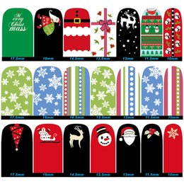 Christmas Gift Nails Australia - Christmas Nail Sticker DIY Design Nails Decals Decoration Snowman Snowflake Nails Art Beauty Manicure Tools Gift