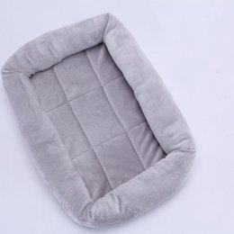 gray sofa beds Canada - High Quality Soft Small Breed Dog Bed Sofa Mat House Cat Pet Bed House for Small Dogs Blanket Cushion Basket Supplies