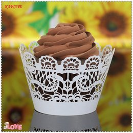 fondant cut NZ - 50pcs  Little Vine Lace Laser Cut Cup cake Paper Baking Fondant Muffin Molds Wrappers Wedding Baking Cup Cake Liners Round 8ZC06