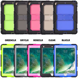 Wholesale Heavy Duty Case For iPad Mini Air Pro New iPad Rugged Tough Impact Hybrid Armor Cover Silicone PC Defender Shell