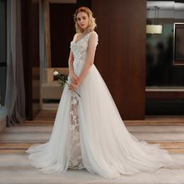 MusliM dresses weddings online shopping - 2019 New Marchesa D Foral Lace Bohemian Modest Dubai Arabic Cheap Wedding Dresses Bridal Gowns custom made sweep train vestidos de novia