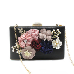Evening Purses Flowers Australia - Women's Flower Clutches Evening Bags Handbags Wedding Clutch Purse Pattern Flowers bolsa feminina handbags Clutch Box Package
