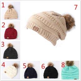 Kids Adults CC Beanie 8 Colors Knitted Pom Pom Hats Winter Woolen Cap  Pompom Beanies Fashion Boys Girls Crochet Caps Party Hats 7b0dcfb61ea7
