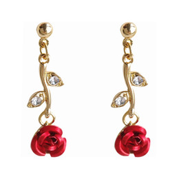 $enCountryForm.capitalKeyWord NZ - Temperament joker contracted fashion earrings rose flowers stud earrings students sweet woman