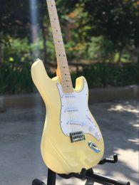 Guitar finGerboards online shopping - Custom shop Top quality ST electric guitar handwork Strings Maple fingerboard guitarra guitaar guitars