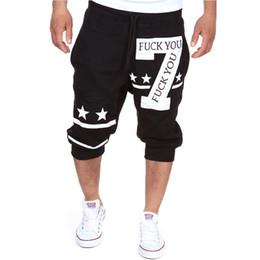 Male Compression Shorts Australia - 2018 Mens Shorts Casual Bermuda Brand 7 Alphabet Printing Compression Male Cargo Shorts Men Linen Fashion Men Short Summer Linen
