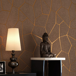 Luxury modern waLLpaper online shopping - Geometric Pattern Thicken D Wallpapers Non woven Fabric Wallpaper Bedroom Living Room TV Background Luxury Modern Wall Paper Decoration