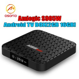 Android Tv Box 16gb Ram Canada - Android Smart TV Box Amlogic S905W Quad Core 2GB RAM 16GB ROM M9S MAX Android7.1 4K H.265 Streaming Media Player 2.4G Wifi Better X96 TX3 S8