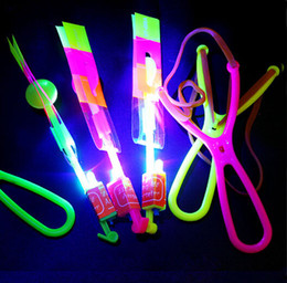 $enCountryForm.capitalKeyWord NZ - Illuminated Slingshot Flying Arrow Blue Light Flying Sword Night Market Booth Toy Hot Sale Small Toy Wholesale Factory Direct