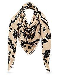 Wool Fiber Australia - Women Classic style scarves wraps silk wool shawls pashmina SCARVES SHAWLS NATTE MONOGRA SHAWL M70656