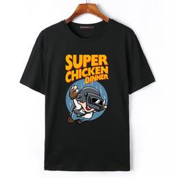Discount super game house SUPER CHICKEN DINNER PUBG T Shirt Cool Game Funny T Shirts Men Short Sleeve House of Paper T-Shirt T-Shirt High Quality