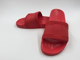 Chinese  2018 High Quality W1Versace Medusa Slide Sandals Luxury Designer Men Women Summer Rubber Sandals Fashion Indoor Slippers Size Eur 36-45 manufacturers