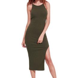 4465cbb84459 2018 Summer Style Women Bodycon Dresses Sexy Solid O-Neck Simple Rib Sling  Sleeveless Dress Retro Hippie Vestidos Boho Dress