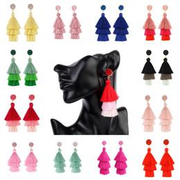 Chandeliers Australia - 18 Colors Fashion Rhinestone Tassel Earring Simple Chandeliers Earring for Women Gifts Party Dangle Earrings Support FBA Drop Shipping H858R