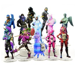 Hot toys material online shopping - 2018 Hot Sell cm Fornite Action Figure Acrylic material humanoid statue collection gift gift Good Quality ornaments toys