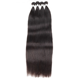 Long weave hair online shopping - 10A Brazilian Straight Bundles Deals inch Unprocessed Brazilian Human Hair Extension Peruvian Remy Hair Straight Long Length