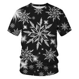 Balck camiseta 3D Christmas snowflake camiseta Hombres camiseta masculina  Top Summer Tee calidad manga corta O-neck Hip Hop Drop ship 6346e891b8853