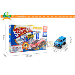Discount block puzzle toy - oy gift shop Kids Multilayer Electric Rail Car Construction Vehicles Toy Assembled Puzzle Train Track Building Blocks Ed
