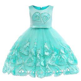 $enCountryForm.capitalKeyWord Australia - brand Baby Princess Flower Girl Dress Lace Appliques Wedding Prom Ball Gowns Birthday Communion Toddler Kids TuTu Dress Little Girl Dress