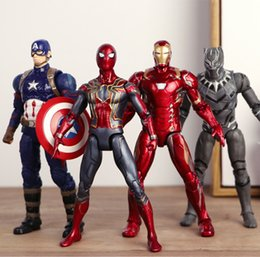 black spiderman toys 2019 - 5 Style 17CM Avengers 3 Infinity War Figure toys Spiderman Captain America Iron Man Black Panther action figures model t