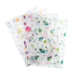 $enCountryForm.capitalKeyWord UK - 8 pcs   pack Four Seasons Flowers Translucent Envelope Message Card Letter Stationary Storage Paper Gift