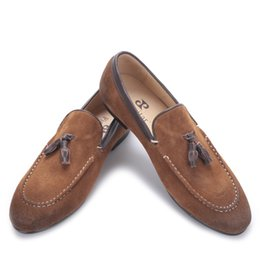 $enCountryForm.capitalKeyWord UK - New arrival Black and Brown men suede shoes with leather tassel men handmade casual loafers Fashion male's flats