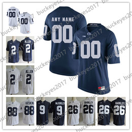 Custom Penn State Nittany Lions College Football 26 Barkley 2 Stevens 9  McSorley 88 Gesicki Stitched Any Name Number Jerseys S-3XL 7bfae150c