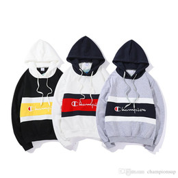 0472aab811e3 2018 New Arrival Unisex bb Off hoodies men womens Soccer Couple Hooded  White Sweaters champions west Casual Pullover hoodies For teenagers