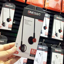 $enCountryForm.capitalKeyWord Australia - 350pcs ONESAM OS-E07 Stereo Bass Headphones In-Ear Earphones with Mic for Apple I5 I6S Samsung S6 S7 android mobile phone