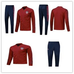 127471ba8 2018 19 World Cup American Soccer JACKET SET 2018 19 American DEMPSEY  PULISIC Football TRACKSUIT Training suit Buy 3 sets of free DHL to USA