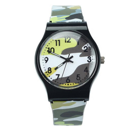 Camouflage dropshipping online shopping - New Fashion Camouflage Children kids Watch Quartz Wristwatch For Girls Boy Blue watches reloj mujer watches Dropshipping