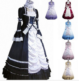 Discount bell costume women - (GT006) Long Sleeveless Southern Bell Costume Gothic Lolita Dress Victorian Party Halloween Costumes for Women Adult Cus