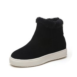 $enCountryForm.capitalKeyWord Canada - Women winter Casual boots New arrival Winter boots made suede cashmere sweaters Warm ankle boots casual flat shoes. XDX-078
