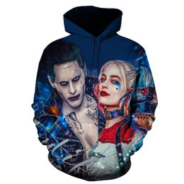 China  3D Men Women Sweatshirts Fashion Pullover Autumn Tracksuits Harajuku Outwear Suicide Squad Joker Male Jacket supplier joker jackets suppliers