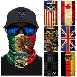 Wholesale Magic D Seamless Headband Tube Neck Scarf Cycling Face Mask Motorcycle National flag Headscarf Scarves Halloween Bandana Neckerchief