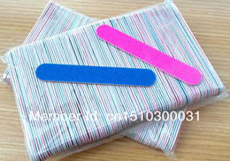 Wholesale New Hot Sale Free Shipping 500PCS Mini Nail Files Wood Files Manicure and Pedicure Trimming Tips Nail Sticker on Sale