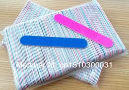 Vente en gros nouvelle vente gratuite 500PCS Mini limes à ongles en bois Fichiers Manucure et pédicure Trimming Conseils Nail Sticker en Solde