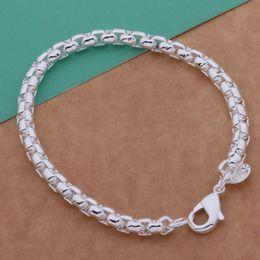 $enCountryForm.capitalKeyWord NZ - New Korean Style Silver Retro Cross Box Chain Bracelet 925 Silver Plated Bracelet Free Shipping D0353