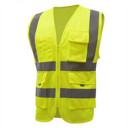 reflective safety vests motorcycle 2018 - Reflective Vest High Quality High Visibility Working Clothes Motorcycle Cycling Running Sport Outdoor Reflective Safety