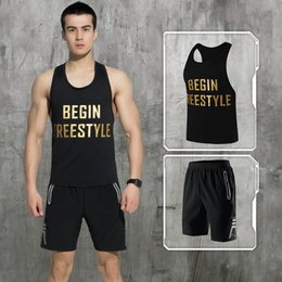 $enCountryForm.capitalKeyWord NZ - LEFAN Summer Men Sports Suits Quick-dry Running Gym Sets Male Basketball Training Fitness Clothes Tracksuits Vest + Shorts M-3XL