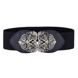 $enCountryForm.capitalKeyWord UK - Womens belts wedding party office Ladies Wide Hip Elastic Stretch Corset Cinch Waistband vintage flower PU leather Waist Belt