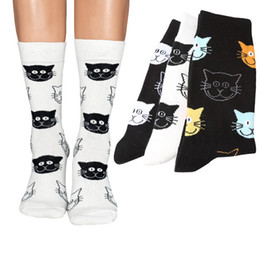 China 1 Pair Women Happy Socks Funny Cat Face Individual Female Short socks Winter Spring Trendy Cute Animal Girls Cotton Sock Meias cheap cotton socks faces suppliers