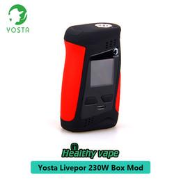 Battery fire mod online shopping - 100 Authentic Yosta Livepor Mod W TC Box Mod s Fast Firing Speed Vape E Cigarette Kits Fit For Battery Thread Atomizer