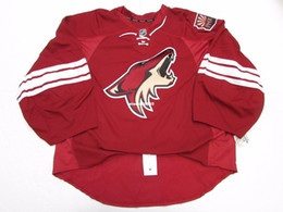 goalie jerseys NZ - Cheap Custom PHOENIX COYOTES AUTHENTIC HOME EDGE JERSEY GOALIE CUT 60 Mens Stitched Personalized hockey Jerseys