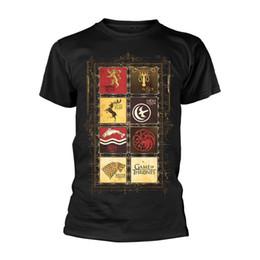 $enCountryForm.capitalKeyWord Canada - GAME OF THRONES Block Sigils MENS Black size LARGE T-Shirt NEW