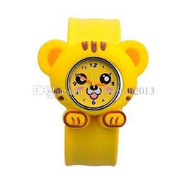 $enCountryForm.capitalKeyWord UK - Hot Models Animal Series Slap Watch Cute Animal Cartoon Slap Snap Watch Silicone Wrist Watches for Children Gift 200pcs Lot