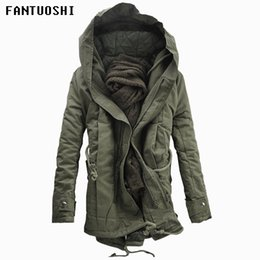 $enCountryForm.capitalKeyWord NZ - 2018 New Men Padded Parka Cotton Coat Winter Hooded Jacket Mens Fashion large size Coat Thick Warm Parkas Black army green 6XL